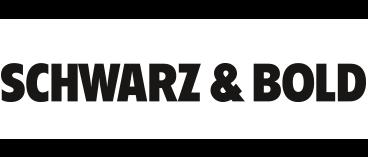 Schwarz und Bold Agentur Logo